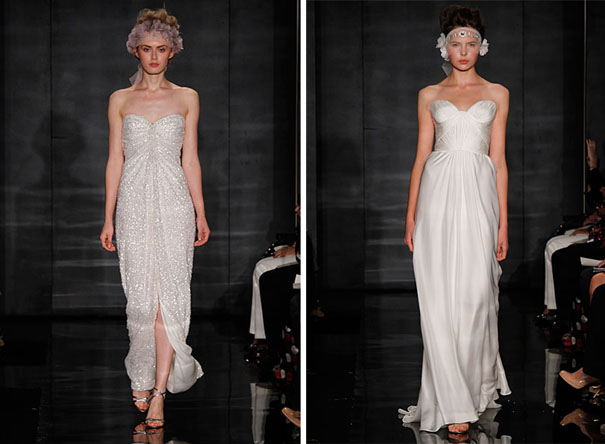 Reem acra pearl wedding dress winter wedding flowers ideas